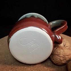 炻器浓缩咖啡杯子,下脸视图
