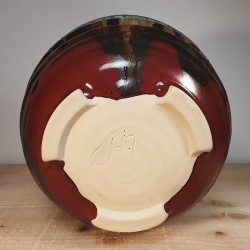 Salads ramen noodle or cereal bowl, down side view
