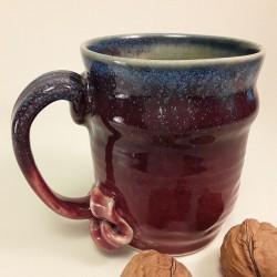 Stoneware mug, medium-sized cup, left view