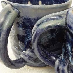 Stoneware espresso cup, glaze detail
