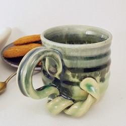 Stoneware espresso cup, left view