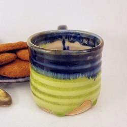 Stoneware espresso cup, back view