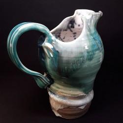 Stoneware tall jug, right view