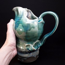 Stoneware tall jug, proportional view