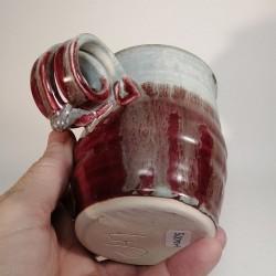 Stoneware mug, medium-sized cup, down side view