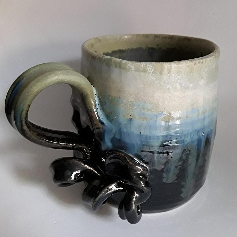 Mug o taza grande de gres, vista izquierda