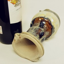 Stoneware goblet down side view