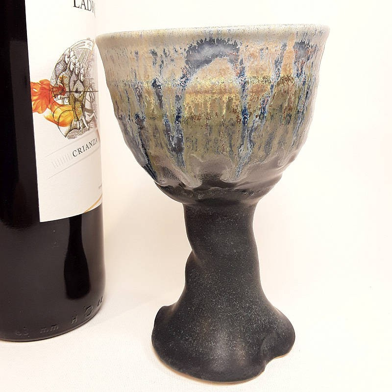 炻器杯子,左侧视图