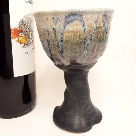 Stoneware goblet right view