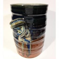 Jarrón, florero o vasija mediana de gres, vista derecha
