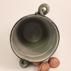 中型炻器花瓶,壺,瓶,罐,内部侧视图