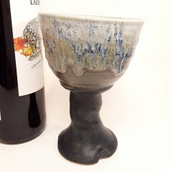 Stoneware goblet left view