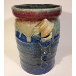 Stoneware vase or medium canister, right view