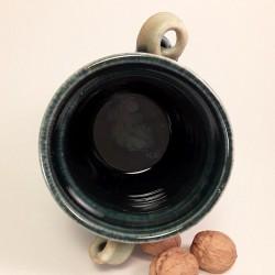 Stoneware vase or medium canister, interior view