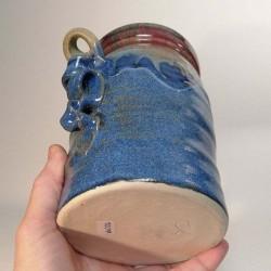 Jarrón, florero o vasija mediana de gres, vista inferior