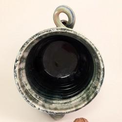 Jarrón, florero o vasija mediana de gres, vista interior