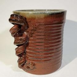 Jarrón, florero o vasija pequeña de gres, vista derecha