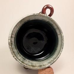 Jarrón, florero o vasija pequeña de gres, vista interior