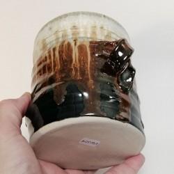小型炻器花瓶,壺,罐,下部侧视图