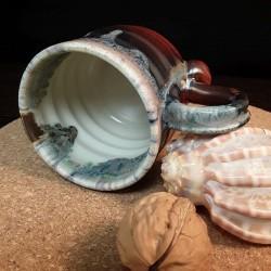 炻器浓缩咖啡杯子,内部侧视图