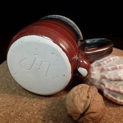 Taza de espresso de gres, vista inferior