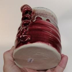 Jarrón, florero o vasija pequeña de gres, vista inferior