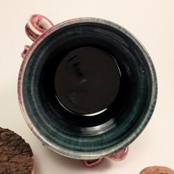 小型炻器花瓶,壺,罐,内部侧视图