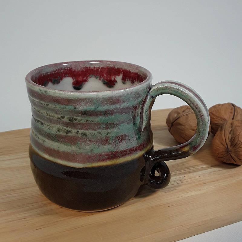 Stoneware espresso cup, right view