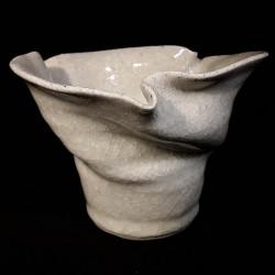 中型碗跟官冰片釉料,正视图