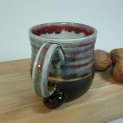 炻器浓缩咖啡杯子,挂视图