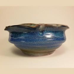 Large bowl salad or fruit bowl, side view