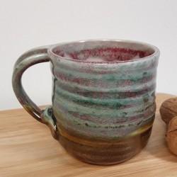 炻器浓缩咖啡杯子,左侧视图