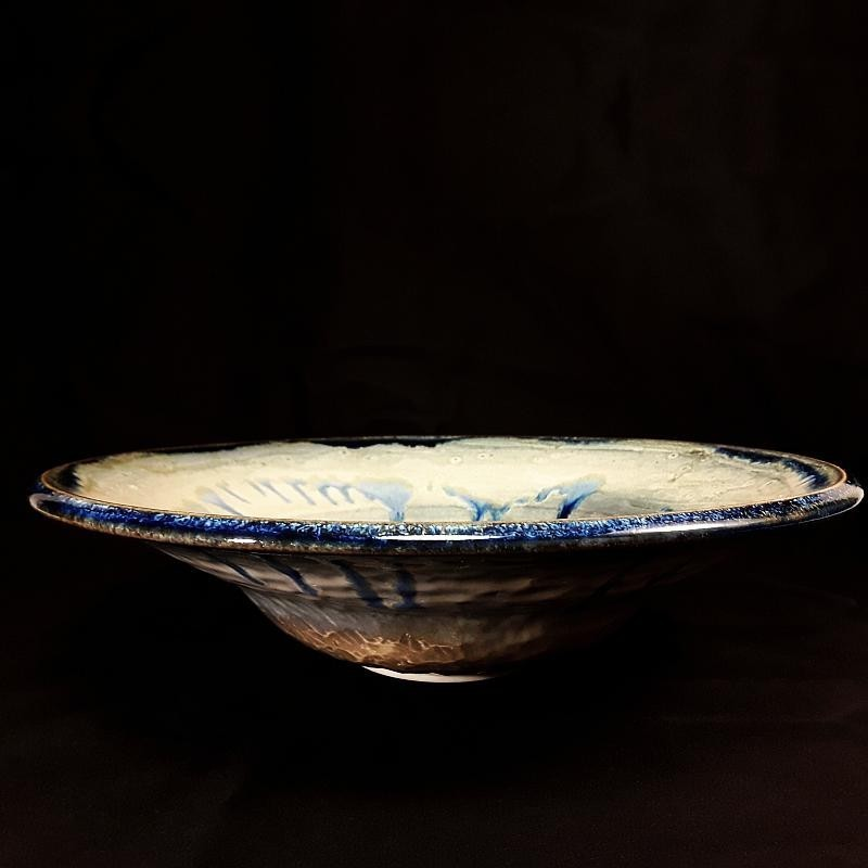 Large bowl salad or fruit bowl, front view