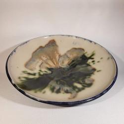 Large bowl salad or fruit bowl, interior view