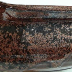 Cuenco grande ensaladera o frutero, detalle del esmalte