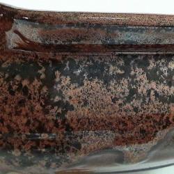 Large bowl salad or fruit bowl, glaze detail