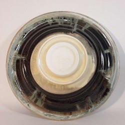 Midsize porcelain bowl, down side view