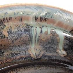 Cuenco mediano de porcelana, detalle del esmalte