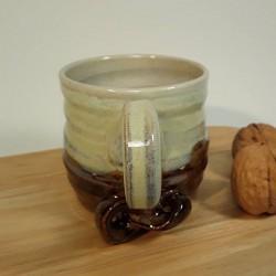 Stoneware espresso cup, hang view