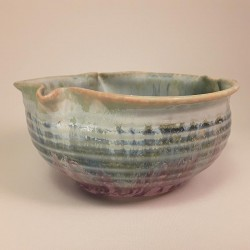 Small porcelain bowl, side view
