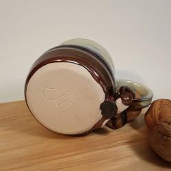 Stoneware espresso cup, down side view