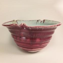 中型瓷器花瓶,侧视图