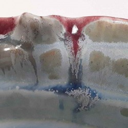 Midsize porcelain vase, glaze detail