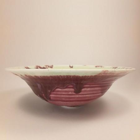 Cuenco ancho de porcelana, vista frontal