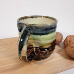 Taza de espresso de gres, vista del asa