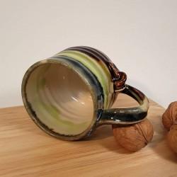Stoneware espresso cup, inside view