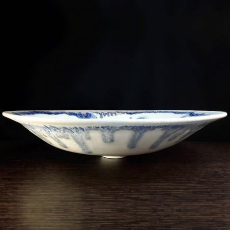 Wide porcelain bowl, front view