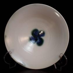 Wide porcelain bowl, interior view