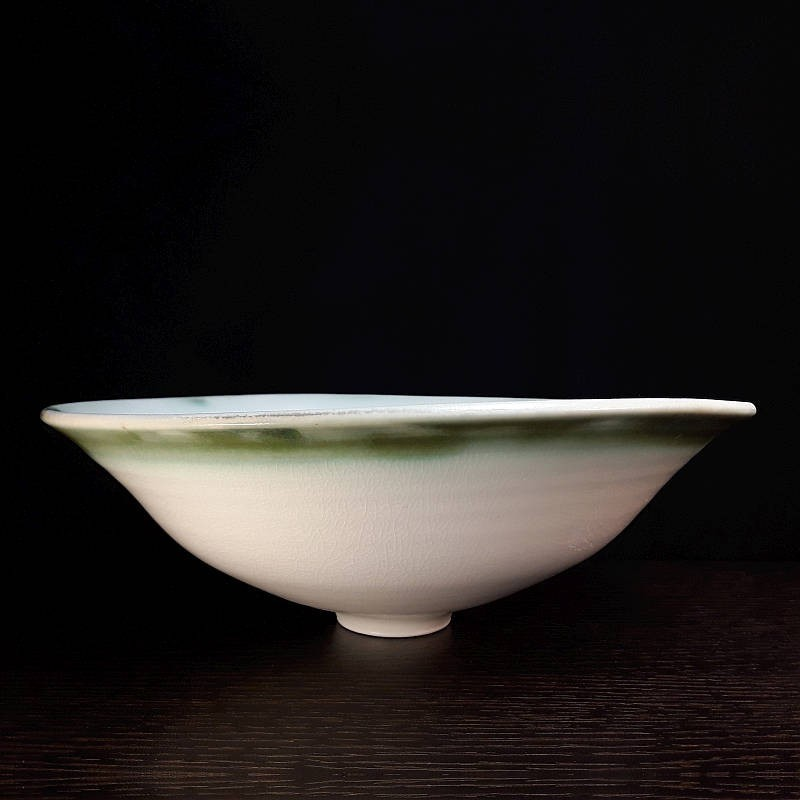 Wide porcelain bowl, front view