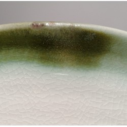 Wide porcelain bowl, glaze detail